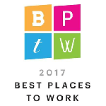Denver Business journal logo- 2017 best places to work