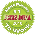 Denver Best Journal logo - #1 place to work 2010