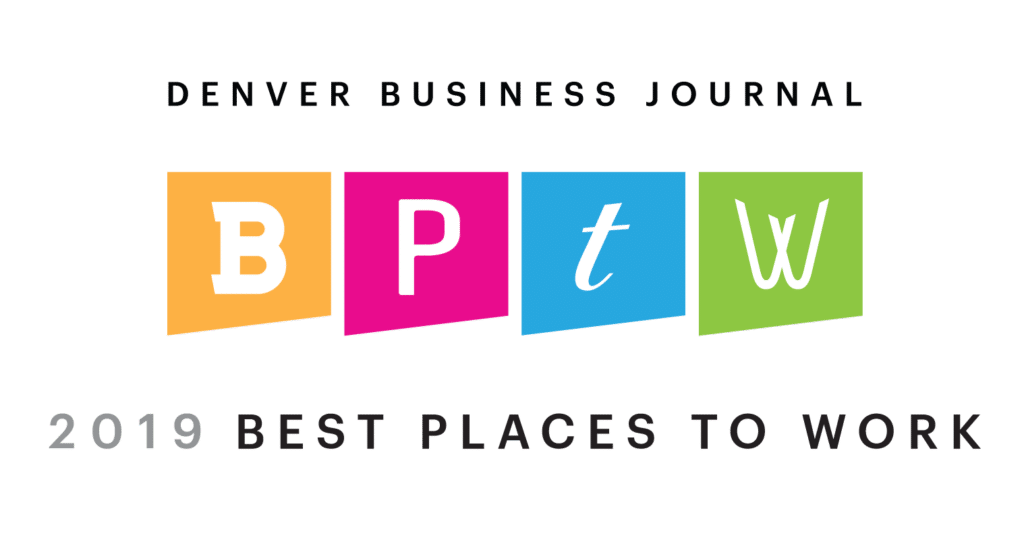 Winner - Denver Business Jorunal Best Places to Work 2019